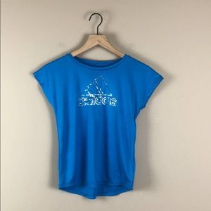 Girl's Blue Adidas Climalite Top - Size M (10/12)